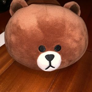 "NWT Line & Friends Brown Bear Plush! 14"" long!"